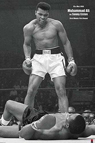 Muhammad Ali vs. Liston Portrait Poster Art Print