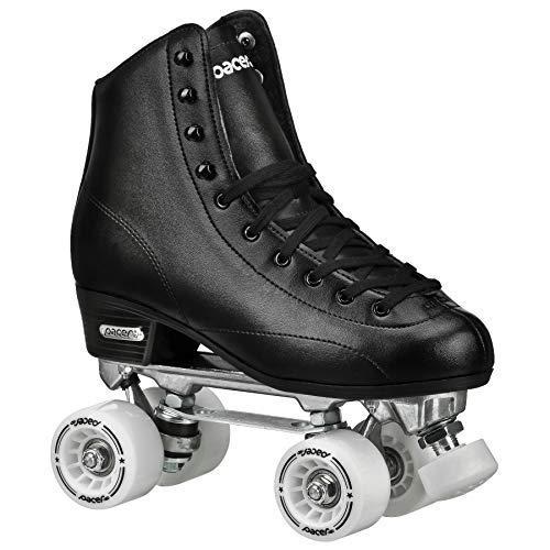 (Pacer Stratos Traditional Quad Indoor Roller Rink Skates, Black sz 9)
