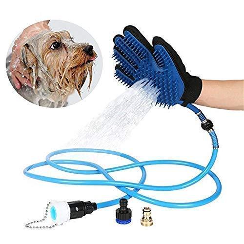 4tens Dog Washing Glove - Dog Wash Hose Attachment - Dog Shower Attachment - Dog Shower Sprayer - Dog Bath Hose Dogs Accessories - Pet Bathing Tool Dog Bathing Supplies - Pet Shower Sprayer for Bathtub (B07MGJX97T) Amazon Price History, Amazon Price Tracker