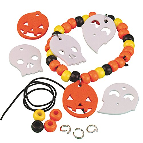 S&S Worldwide Halloween Pony Bead Bracelet Craft Kit (Makes 12) -