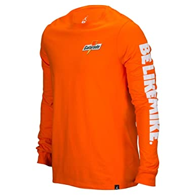 7365b7ea331 Image Unavailable. Image not available for. Color: Jordan Men's Be Like  Mike Gatorade Long Sleeve Shirt ...