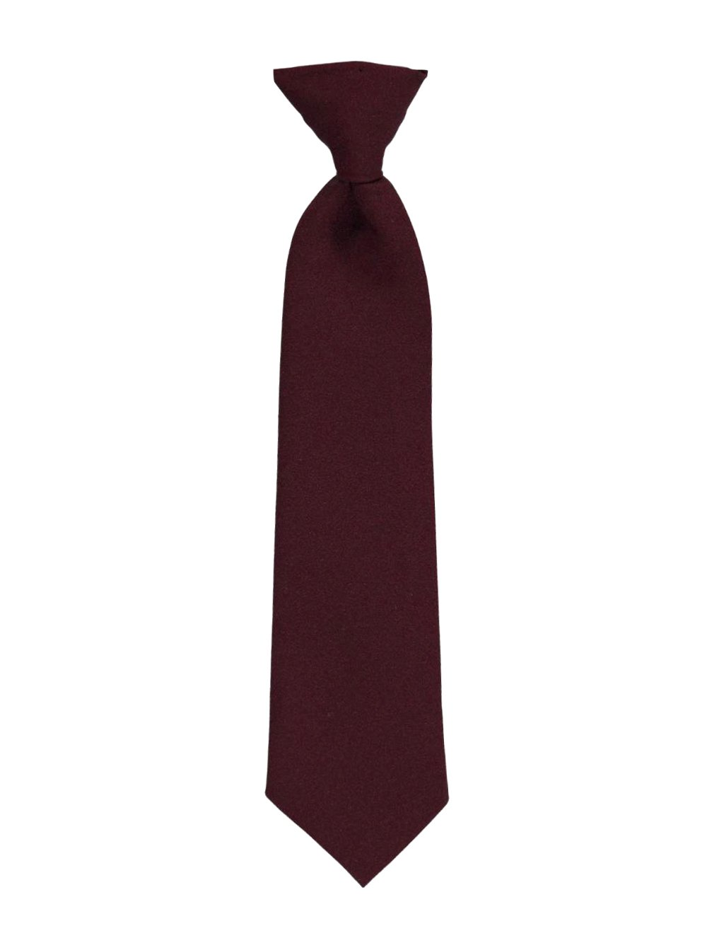 Cookie's Brand Clip-on Tie - burgundy, 12 12 Cookie's Brand