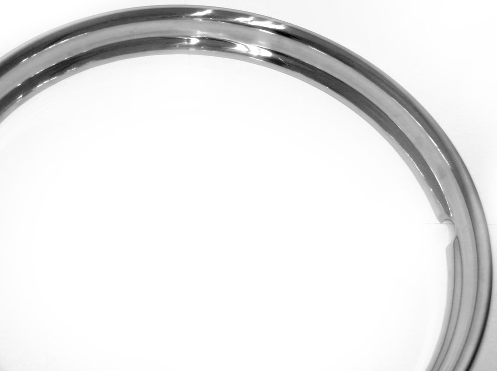 16'' Hot Rod Vintage Smooth Beauty Trim Rings - Set of Four for Steel Wheels