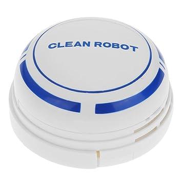 Matefielduk Robot Aspirador,Aspirador Inteligente de colector de Polvo del Mini Aspirador Inteligente Alto Rendimiento de Limpieza Todo Tipo de Suelos: ...