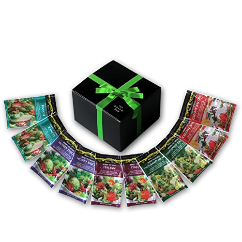 Walden Farms Calorie Free Dressing 10 x 1 oz - Assortment Healthy Salad Sauces - 2 in every Flavor of Ranch, Italian, Creamy Bacon, Thousand Island, and Honey Dijon   Carb-Free Food with Gift Box high-quality