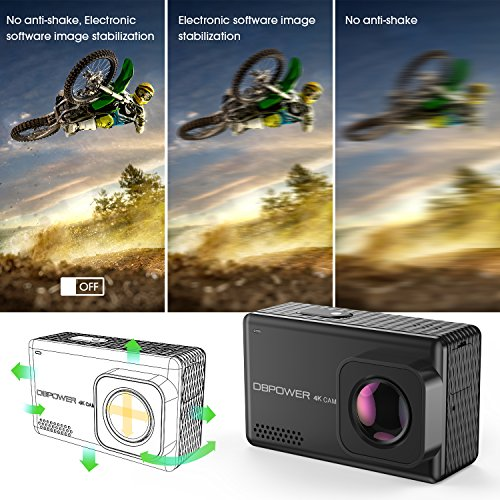 "51Pkbj0VhkL - DBPOWER EX7000 PRO 4K Action Camera 2.45"" LCD Touchscreen Underwater Camera with 16MP Sony Image Sensor Waterproof Sports Cam and 170° Wide-Angle Lens 2x Rechargeable Batteries"
