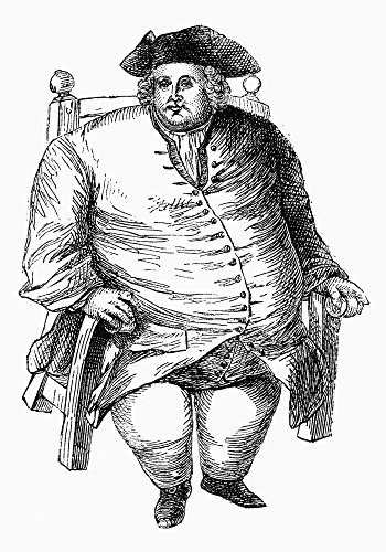 - Obese Man And Chair Nan Obese Man Of The 18Th Century In His Chair Wood Engraving English 19Th Century Poster Print by (18 x 24)