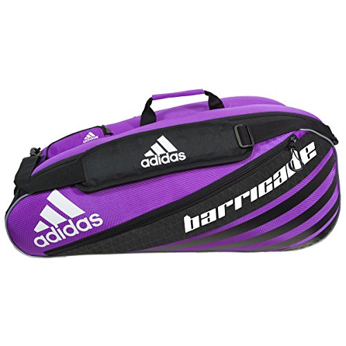 adidas Barricade IV Tour 6 Racquet Bag, Flash Pink/Black, One (Six Racquet)