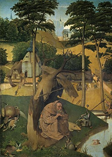 Gifts Delight Laminated 16x23 Poster: Salvador Dali - The Temptation of St Anthony Bosch Painting