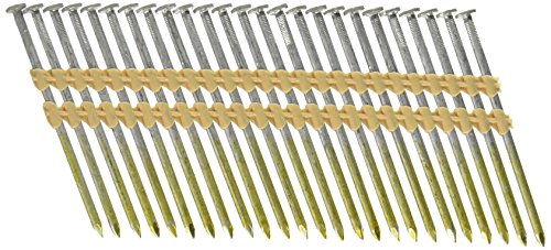 Hitachi 20163S 3-1/4-in X .131 Framing Nails, Full Round Head, Hot Dipped Galvanized, Plastic Strip Collation, For 21 Degree Framing Nailers, 1,000 Per Box by Hitachi