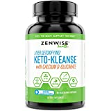 Keto Cleanse Liver Detox Supplement - Ketogenic Diet Support for Mental Clarity, Metabolism & Digestion - 500mg Calcium D Glucarate & 100mg Grape Seed Extract Antioxidant - 90 Vegetarian Caps