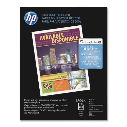 HP Brochure PAPER8.5X11MATTE250CT (Hp Laser Photo Paper)