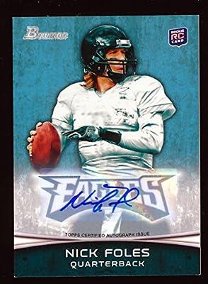 Nick Foles 2012 Bowman Autograph Auto Rc Rookie Card *st. Louis Rams*