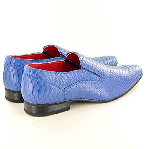 Schlupfschuhe Kleid Zulaufender Haut Krokodil Herren Zehenbereich Fancy Spitz Winkle Blau Picker Muster 7Uvzxn5wz