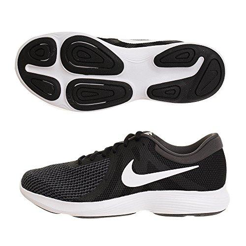 Nike Herren Revolution 4 Laufschuhe Schwarz Weiß Anthrazit