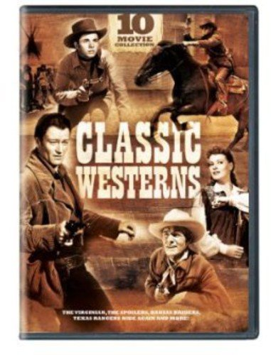 Classic Westerns, 10-Movie Collection: When Daltons Rode / The Virginian / Whispering Smith / The Spoilers / Comanche Territory / Sierra / Kansas Raiders / Tomahawk / Albuquerque / Texas Rangers Ride Again (Six Pack Movie Dvd)
