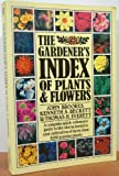 Gardeners Index of Plants and Flowers, John Brookes, 002049100X