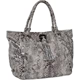 Elliott Lucca Cordoba Large Work Tote,Black/White Exotic,One Size, Bags Central