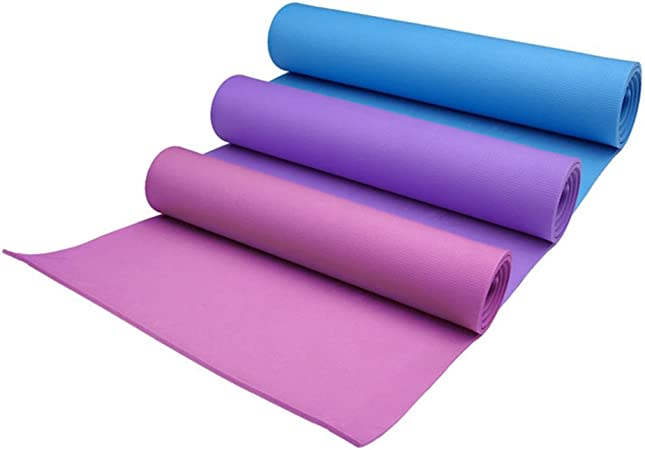 Durable 4mm Thickness Yoga Mat Non Slip Exercise Pad Health Lose Weight Fitness Amazon Co Uk Kitchen Home