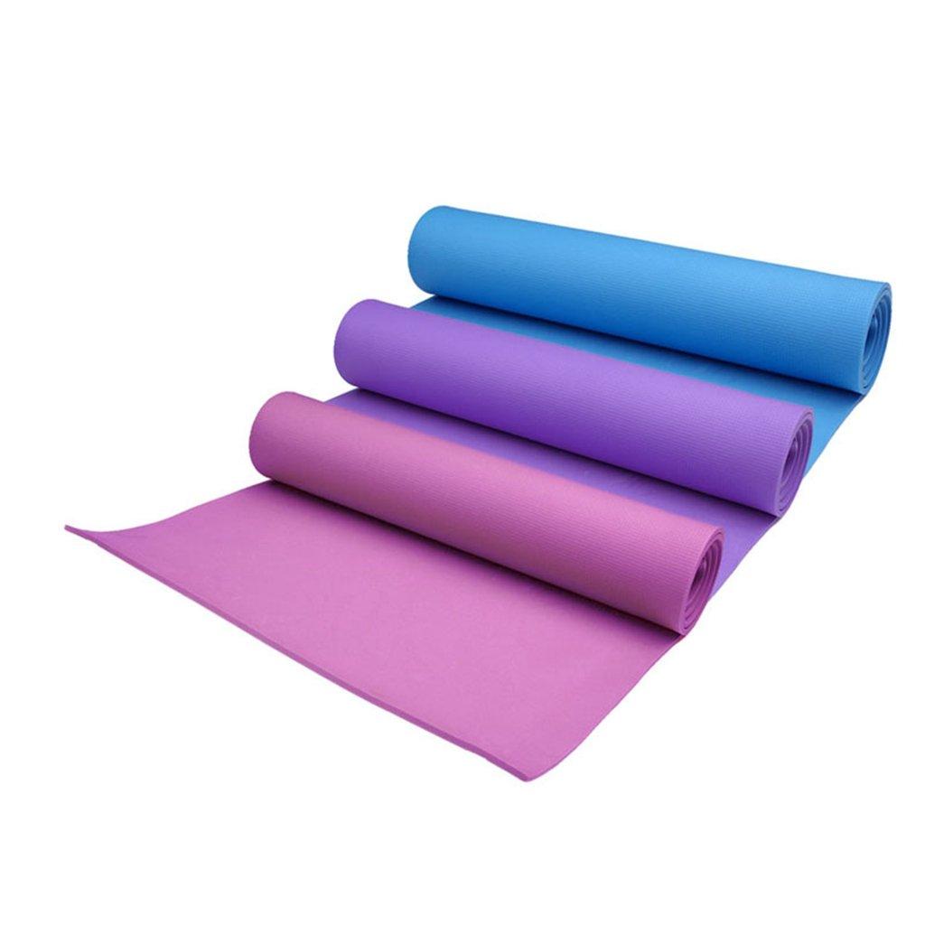 Esterilla de yoga de 4 mm de grosor, antideslizante, para ejercicios de salud y pérdida de peso azul