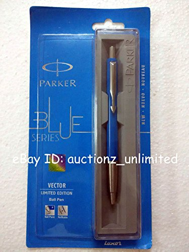 Parker Vector Limited Edition CT Ball Point Pen Ballpen Standard Blue Color New Blue - Color Blue New