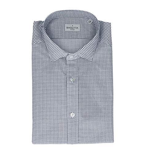 Bagutta Men's Berlinoebl08972655 Blue Cotton Shirt