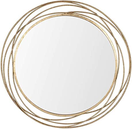 Melody Maison Extra Large Round Antique Gold Mirror 92cm X 92cm Amazon Co Uk Kitchen Home