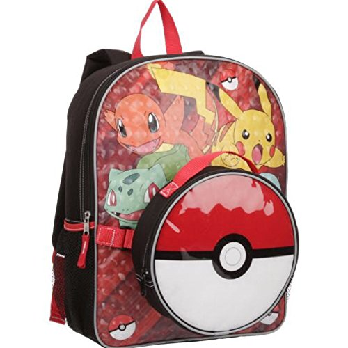 Pokemon Large Backpack and Pokeball Insulated Lunchbox Lunch Bag - Kids Photo - Pokemon Gaming