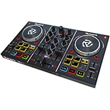 Numark Party Mix – Starter DJ Controller with Built-In Sound Card & Light Show, and DJ Software Included for Download