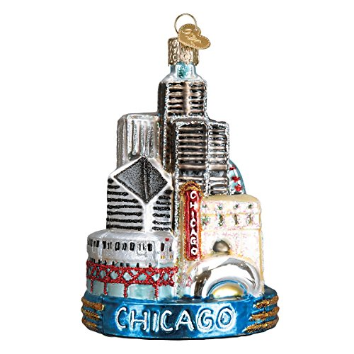 Old World Christmas Glass Blown Ornament Chicago (20091)