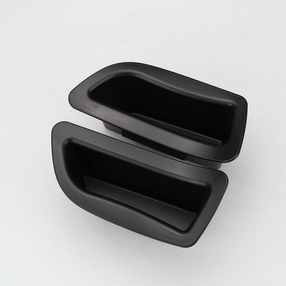 2/Schwarz Vorne T/ür Griff Aufbewahrungsbox Container Halter Tablett Auto Zubeh/ör f/ür V40/V40cc