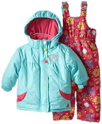 rugged bear baby girls 39 floral snowsuit. Black Bedroom Furniture Sets. Home Design Ideas