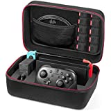 Case for Nintendo Switch - Younik Deluxe Hard Shell Carrying Case for Switch Console, Switch Dock, AC Adapter, HDMI Cable, Pro Controller and 10 Game Cartridges