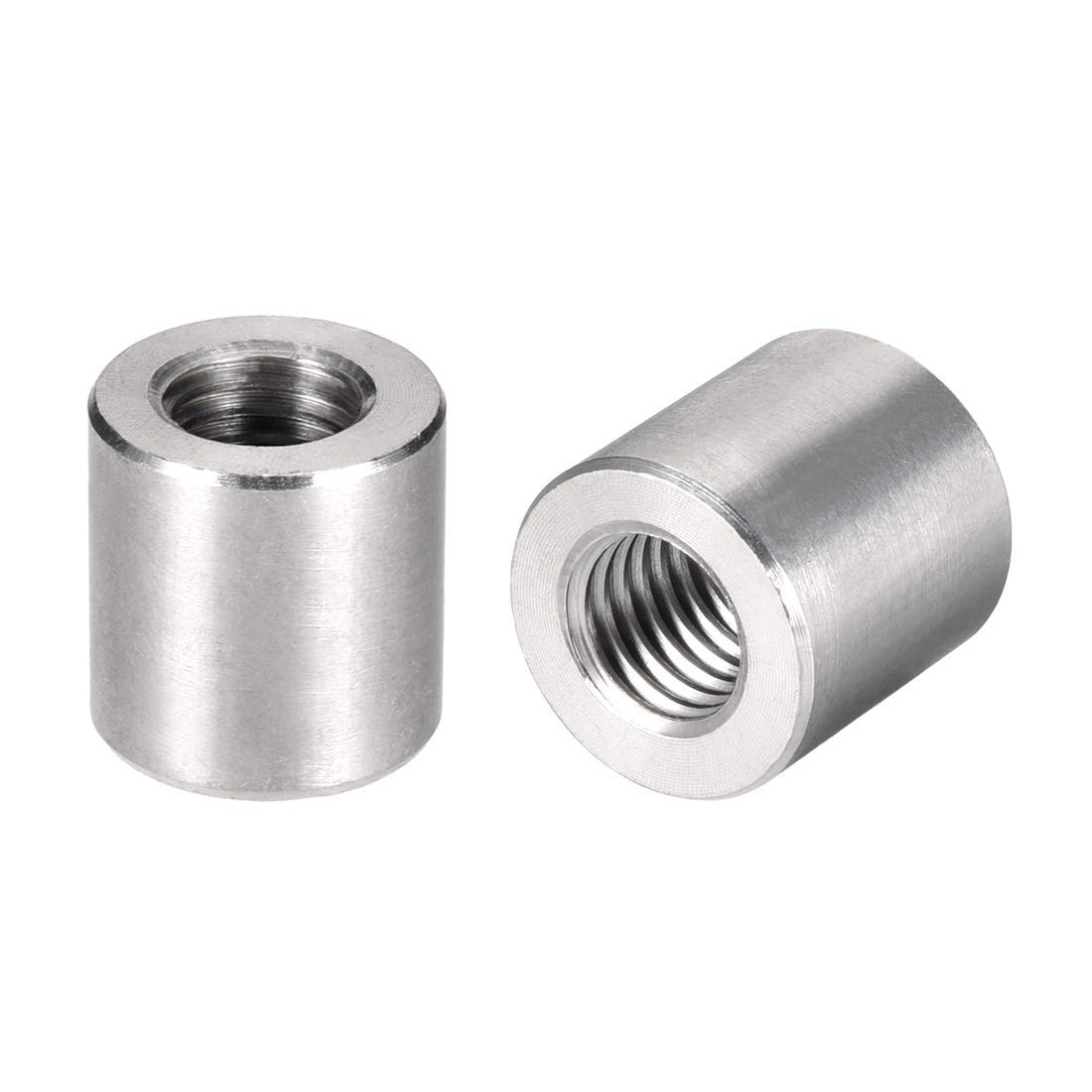 Round Connector Nuts M12x20mm Height Sleeve Bar Bar Nut 304 Stainless Steel Pack of 10