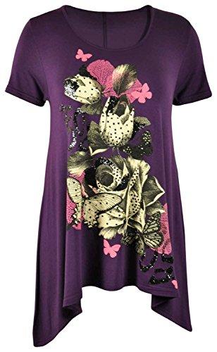 ® Mujer Top 36 De Para Con Decorado Purple Talla Mariposas 54 Chocolate Pickle 8fqE55w