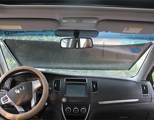 LIVDAT Car Windshield Sun Shade Universal Fit Adjustable Sunshade Blocks Heat Sun and Keeps Your Vehicle SUV Truck Cool (50'' x 23'')