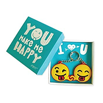 Los mejores amigos de BmyBFF. 2 x Happy Faces (emoji) BFF Llaveros ...