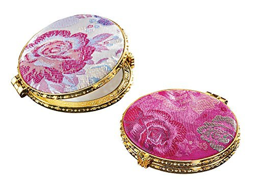 Double Mirrored Compacts - Set of 2 Round Handheld Compacts