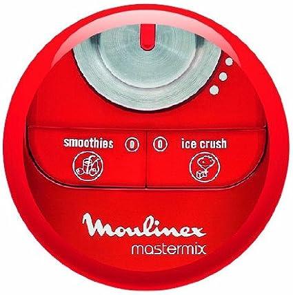 Moulinex LM800G Mastermix - Batidora de vaso, color rojo y blanco ...