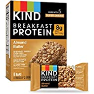 KIND Breakfast Protein Bars, Almond Butter, Gluten Free, 1.76oz, 32 Count