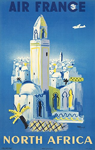 air-france-north-africa-vintage-poster-artist-villemot-france-c-1946-24x36-collectible-giclee-galler