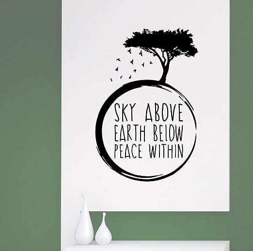 Crjzty Apliques Yoga Meditación Tatuajes de Pared Cielo sobre la ...