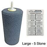 ACTIVE AQUA CYLINDER AIR STONE + Twin Canaries Chart - Large - 5 Stones