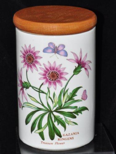 Portmeirion Pottery Stoneware England Botanical Botanic Garden CANISTER - Gazanic Ringens - Treasure Flower - Botanical Canister