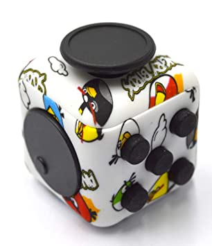 Hexa 6-Sides Fidget cube Relieves Stress Anxiety for Children & Adults  Anxiety Attention Toy (Angry Bird)
