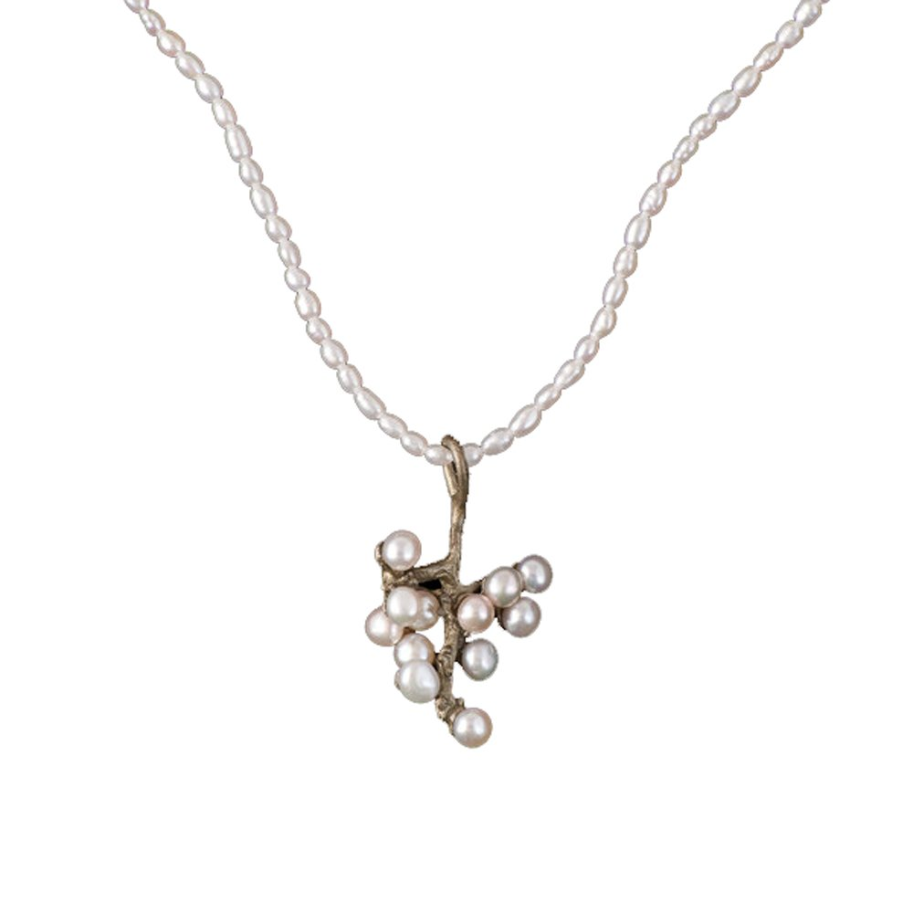 ''Ume'' Pearl Pendant Necklace by Michael Michaud for Silver Seasons…
