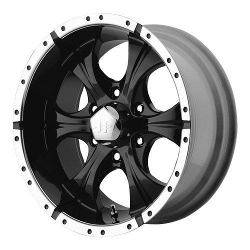 Rims 5 Truck Lug - Helo Maxx Wheel with Gloss Black Machined (15x8
