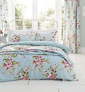 Catherine Lansfield Canterbury - Juego de funda de edredón y fundas de almohada para cama de matrimonio, multicolor