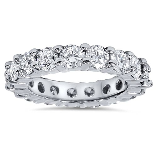 4ct Diamond Eternity Wedding Ring 950 Platinum - Size 9