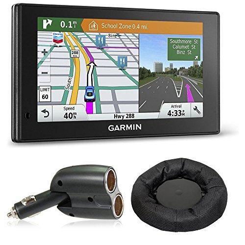 Garmin 010-01540-01 DriveSmart 60LMT GPS Navigator includes Garmin DriveSmart 60LMT, UGC-102-BL Dual 12V Car GPS Charger and Portable Friction Mount (Flexible Style)